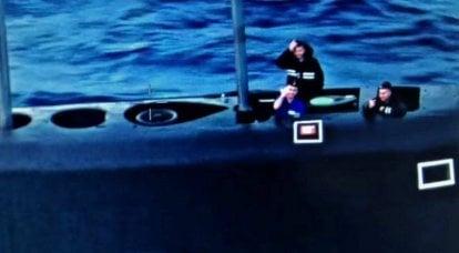 러시아 잠수함이 미국 대 잠수함 항공기를 환영했다
