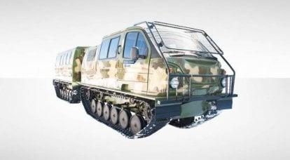 北极的Aleut。 俄罗斯军队接收两链运输车