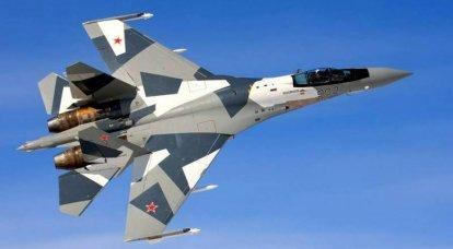 Su-35 çok amaçlı avcı uçağı. İnfografikler