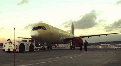 Data do primeiro voo do MC-21-310 com motores russos PD-14 anunciada