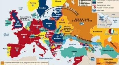 """""""Le cauchemar d'Obama"""" - carte publiée des amis et des ennemis de la Russie"""