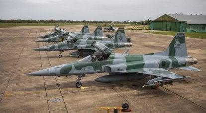 Savaşçılar Northrop F-5 Brezilya Hava Kuvvetlerinin hizmetinde