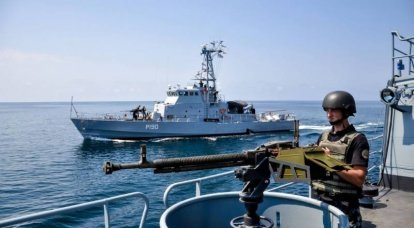 """The ship group of the Ukrainian Navy has practiced """"repelling an attack"""" while en route to the Georgian port of Poti"""