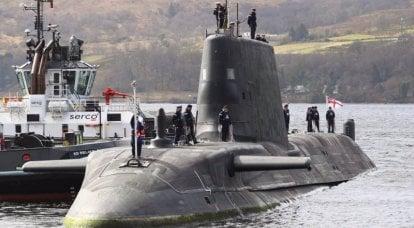 アスチュート級の多目的原子力潜水艦HMSオーダシャスがイギリス海軍に就役