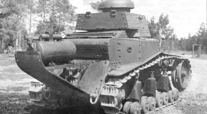 Carri armati chimici sovietici con un dispositivo di fumo TDP-3