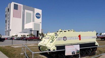 スペースのための装甲人員運搬車。 NASAのM113