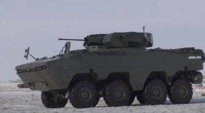 哈萨克军方继续测试土耳其装甲车ARMA-8x8
