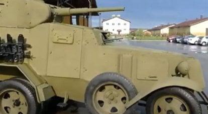 10mm「戦車砲」を搭載したソビエト装甲車BA-45