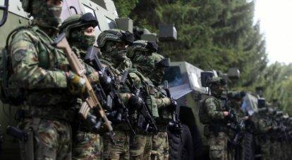 Serbian troops on high alert near Kosovo border