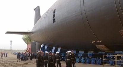 """核多用途潜艇""""克拉斯诺亚尔斯克""""项目""""亚森-M""""下水"""