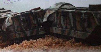 Belden kırma tankların projeleri Boirault Train Blindé (Fransa)