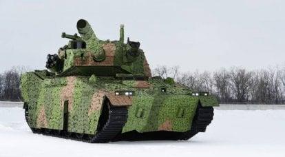 强积金坦克正在准备进行军事测试