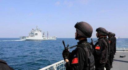 中国の司令部は人民解放軍海軍遠征隊の目的地を明らかにしていない