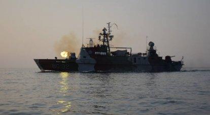 """Die Marine und der Grenzdienst der Ukraine führten Übungen zur Abwehr der """"russischen Landung"""" im Wassergebiet des Asowschen Meeres durch"""