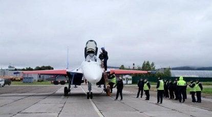 Vier neue Su-35S-Jäger für russische Ritter sind bereit für den Transfer