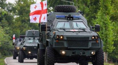 Gürcü birlikleri, Agile Spirit tatbikatında Didgori zırhlı araçlarını kullanıyor