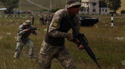 Marinesoldaten der Streitkräfte der Ukraine führten einen Gegenangriff unter dem Deckmantel georgischer Panzerfahrzeuge durch