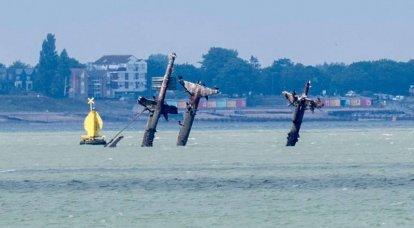 ベイルートを繰り返すことへの恐怖。 テムズ川河口で沈没した交通機関は爆発しますか?