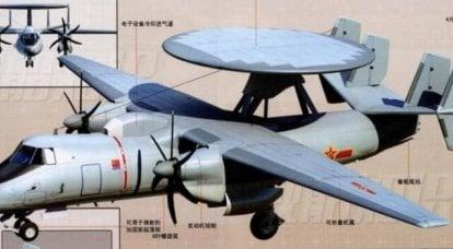 Aeronave AWACS Xian KJ-600 para a Marinha PLA
