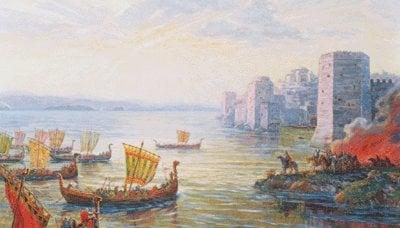 Viagem de barco para Tsargrad no ano 626