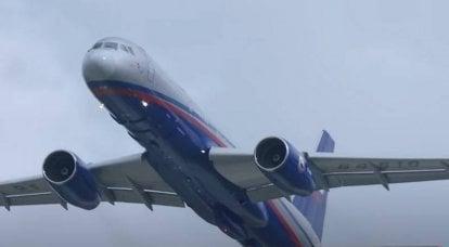"""""""Capacidades de defensa aérea probadas"""": el Tu-214ON ruso realizó su primer vuelo con una nueva capacidad"""