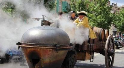 蒸気トラクターと軍での最初の使用