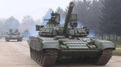 """塞尔维亚感谢俄罗斯转让的T-72MC""""白鹰""""坦克"""