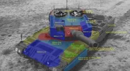 评估坦克护甲2A0-A4的护甲保护