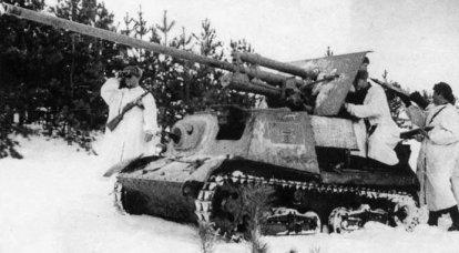 戦争初期のドイツの戦車に対するソビエトの自走砲