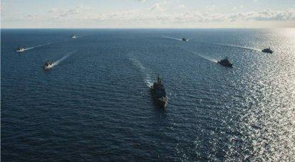 在黑海练习乌克兰和其他神风敢死队
