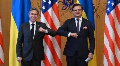 米国国務省の長がウクライナを訪問中