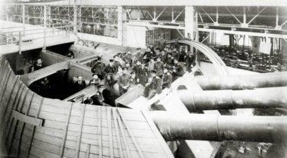 प्रथम विश्व युद्ध के दौरान रूस और जर्मनी की भारी नौसैनिक तोपखाने प्रणाली: गलतियों पर काम on