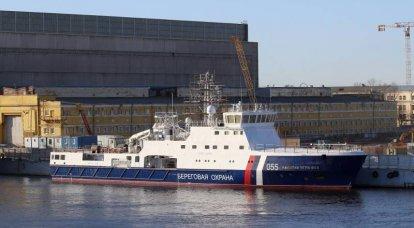 Das sechste Projekt 22120 Patrouillenschiff für den Grenzschutzdienst wurde in St. Petersburg gestartet
