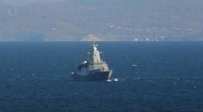 """मिसाइल प्रणाली """"यूरेन"""" द्वारा कार्वेट """"एल्डर त्सेंडेन्जपोव"""" से लक्ष्य को मारने की दूरी"""