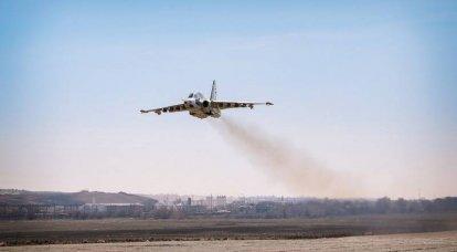 El primer avión de ataque Su-25 restaurado despegó en Georgia