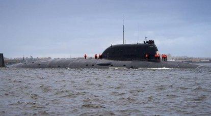 """Çok amaçlı nükleer denizaltı """"Novosibirsk"""", fabrika deniz denemelerinin ilk aşamasını tamamladı"""