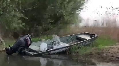 オデッサ地域で転覆したウクライナの国境警備隊とモーターボート