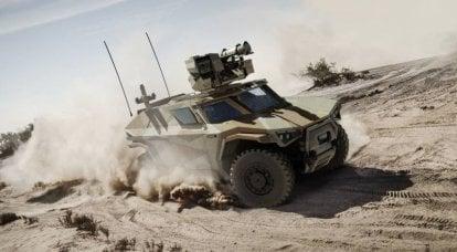 装甲车Arquus Scarabee。 看起来像螃蟹一样移动
