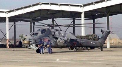 """""""고도 50-60 m에서"""": 러시아 항공 우주군의 헬리콥터가 시리아 북부 순찰대"""