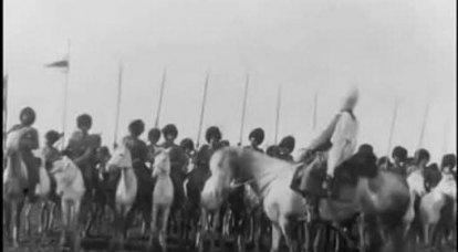 러시아 제국의 투르크멘. Tekin 말 연대의 역사