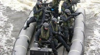 Combat craft of special forces of NATO