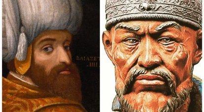 Timur et Bayazid I.Ankara bataille des grands commandants