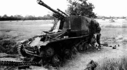 第二次世界大戦の自走榴弾砲。 6の一部 ウェスペ(スズメバチ)
