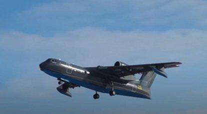 타간 로크에서 국방부를위한 세 번째 Be-200PS 수륙 양용 항공기 비행 테스트 시작