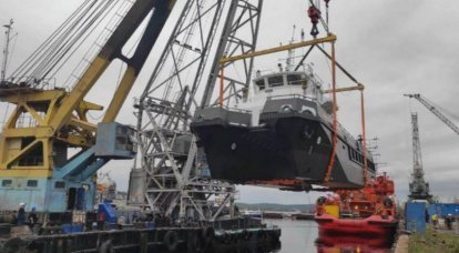 A large hydrographic boat of project 23370G for the Northern Fleet was launched in Murmansk