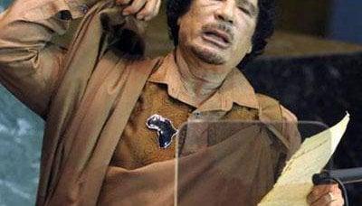 向世界社会呼吁卡扎菲