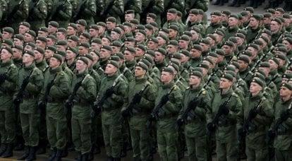 普京总统关于俄罗斯合同军的声明