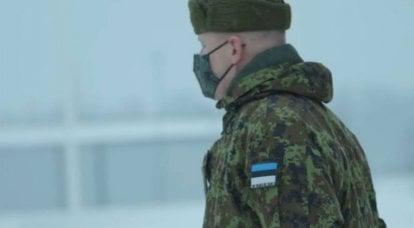Aufgrund von Frost und Schneefall im Trainingslager der estnischen Reservesoldaten gab es Probleme mit Uniformen