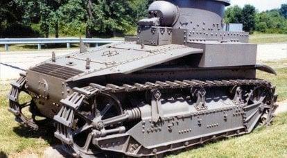Yirminci yüzyılın 20'li yıllarının Amerikan deney tankları