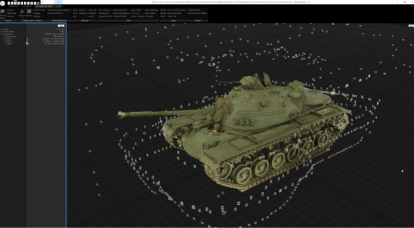 """We are trying to convey the character of WWII tanks using photogrammetry"""